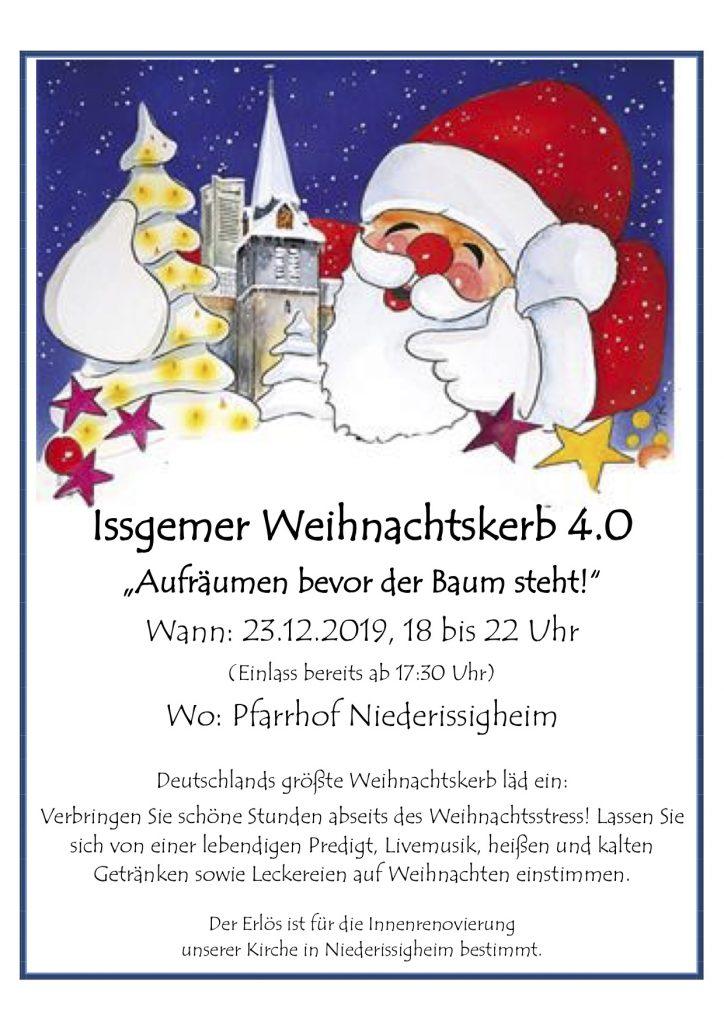 Plakat Weihnachtskerb 2019